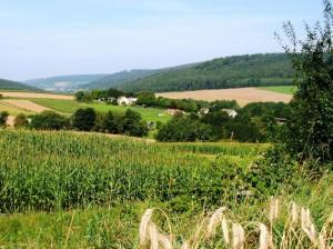 Schönes Pfieffetal mit Bauernhöfe
