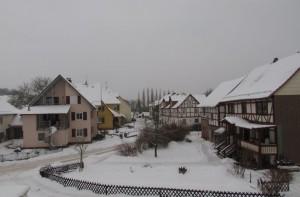 Winteridylle im Ortskern von Pfieffe